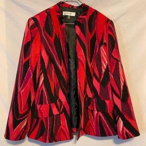 Jones studio 18W Pink Black lined blazer 555a